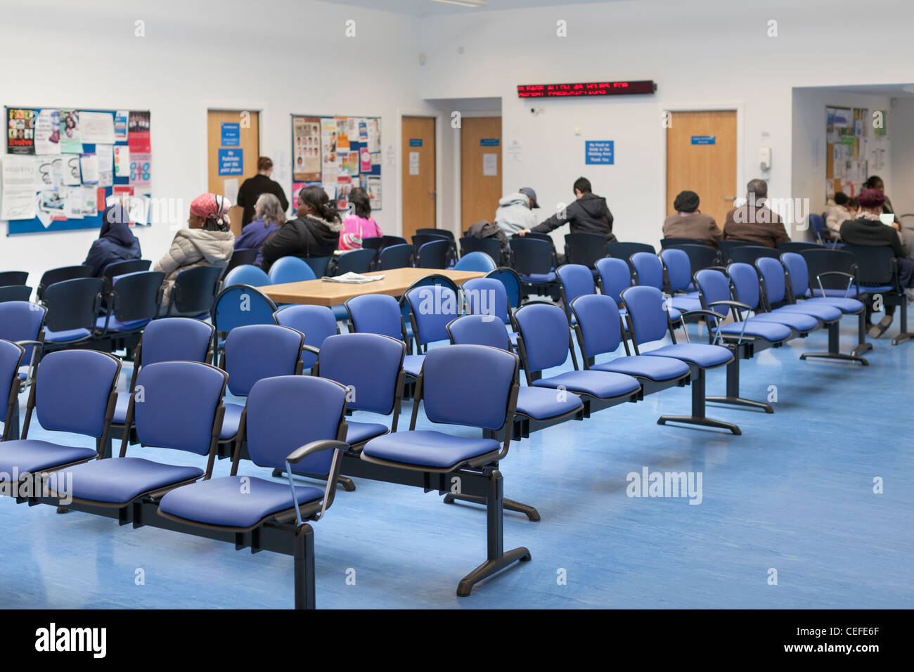 People In A Hospital Waiting Room