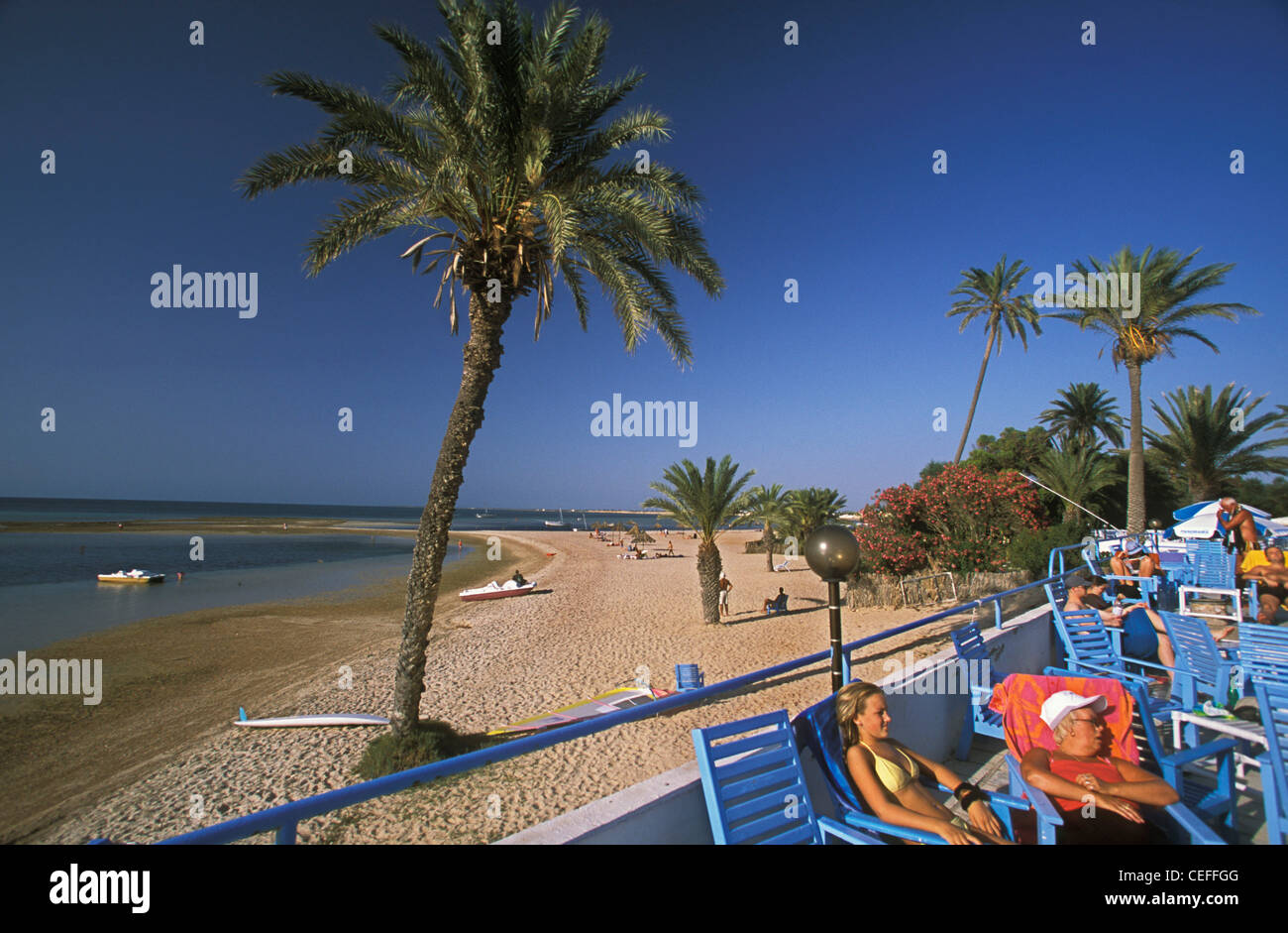 Kerkennah Island Tunisia A View From The Grand Hotel At Sidi Fredj Stock Photo Alamy
