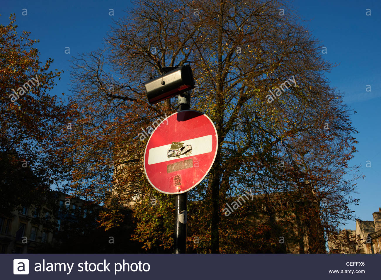 No Entry Sign in Oxford - Stock Image