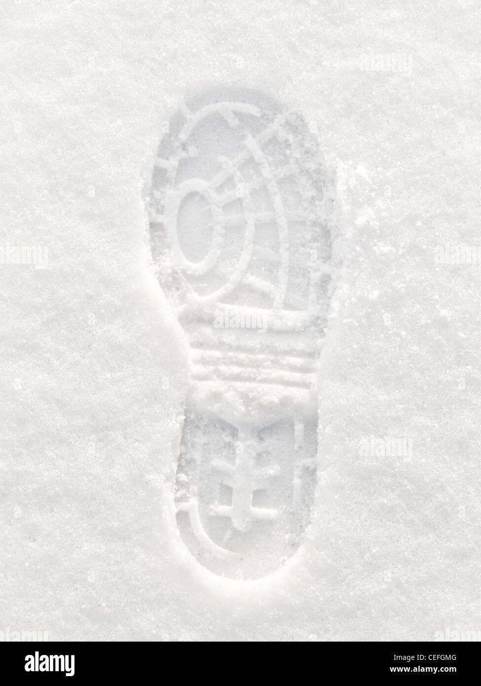 Snow Footprint - Stock Image
