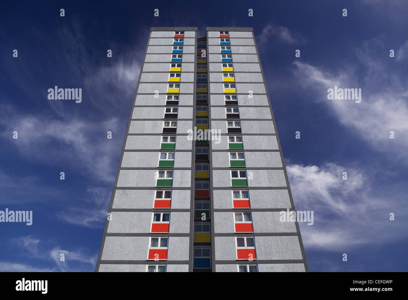 1960's tower block in London Borough of Newham - Stock Image