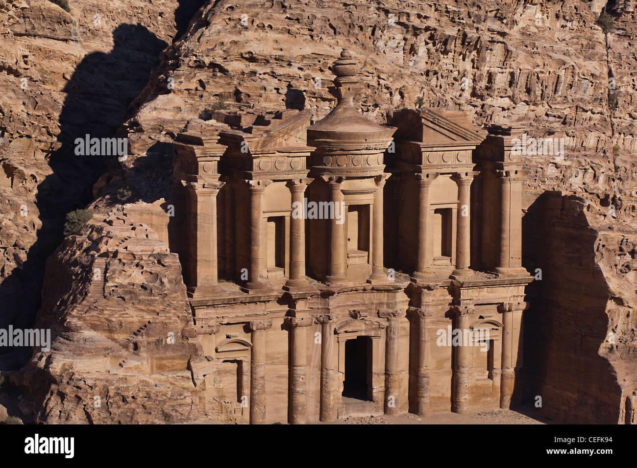 El Deir Monastery in Petra, Jordan. - Stock Image