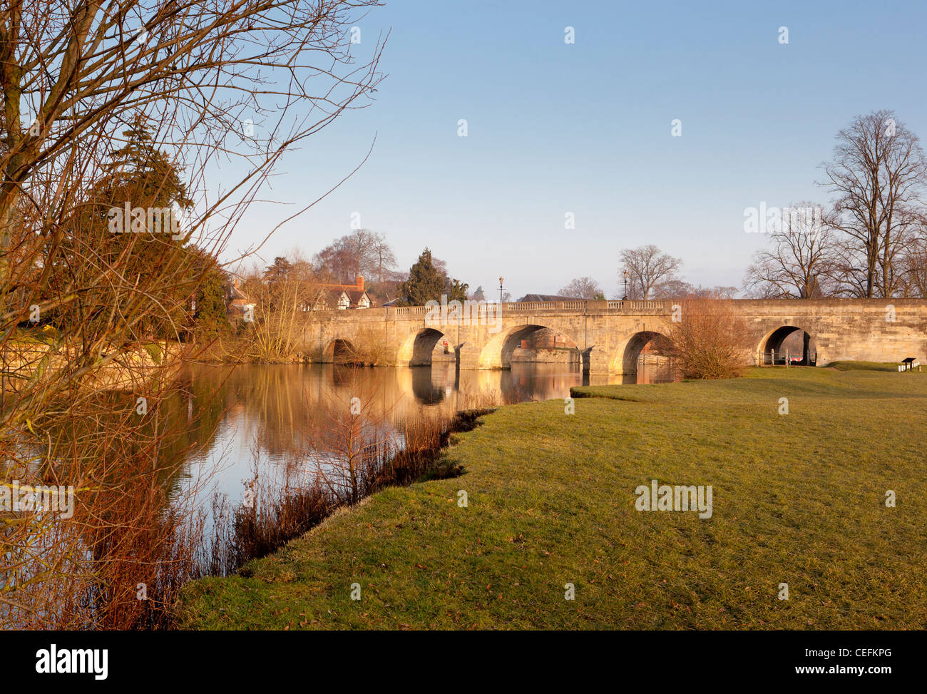 Wallingford Bridge, River Thames. Oxfordshire, England, UK - Stock Image