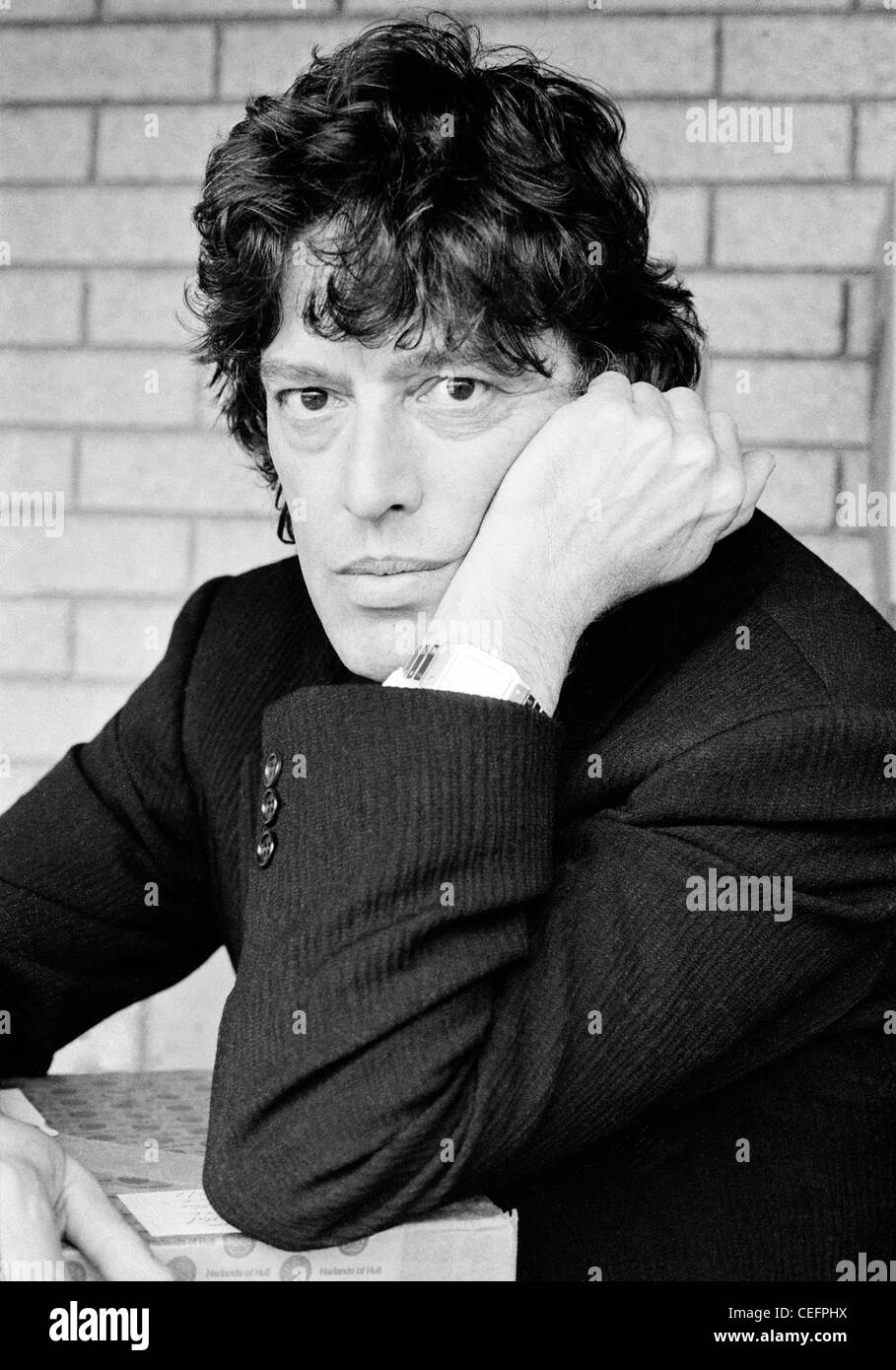 Tom Stoppard playwright, National Theatre, London - Stock Image