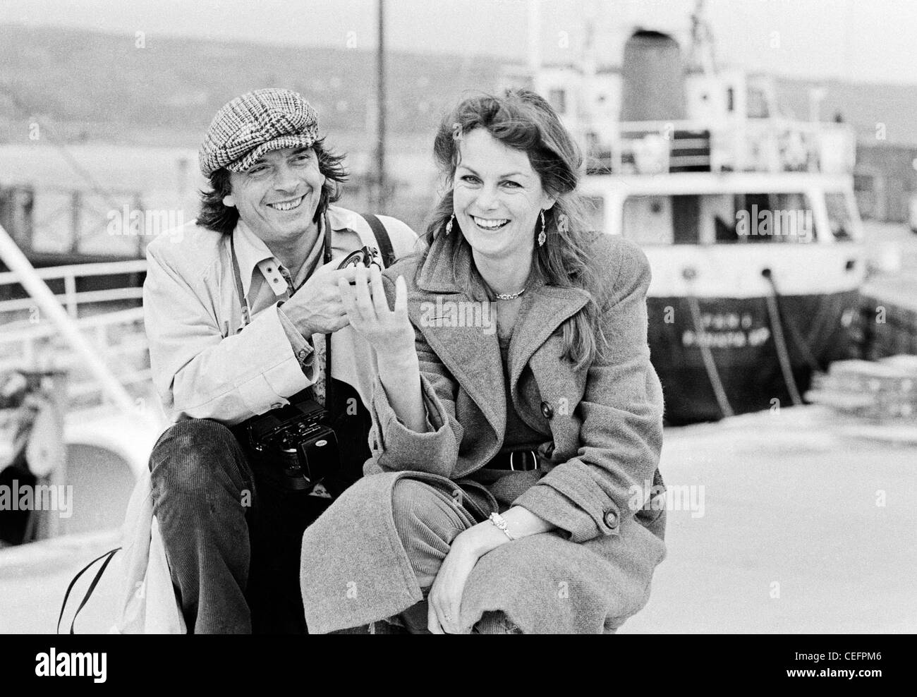 David Bailey And Jean Shrimpton In Cornwall 1982