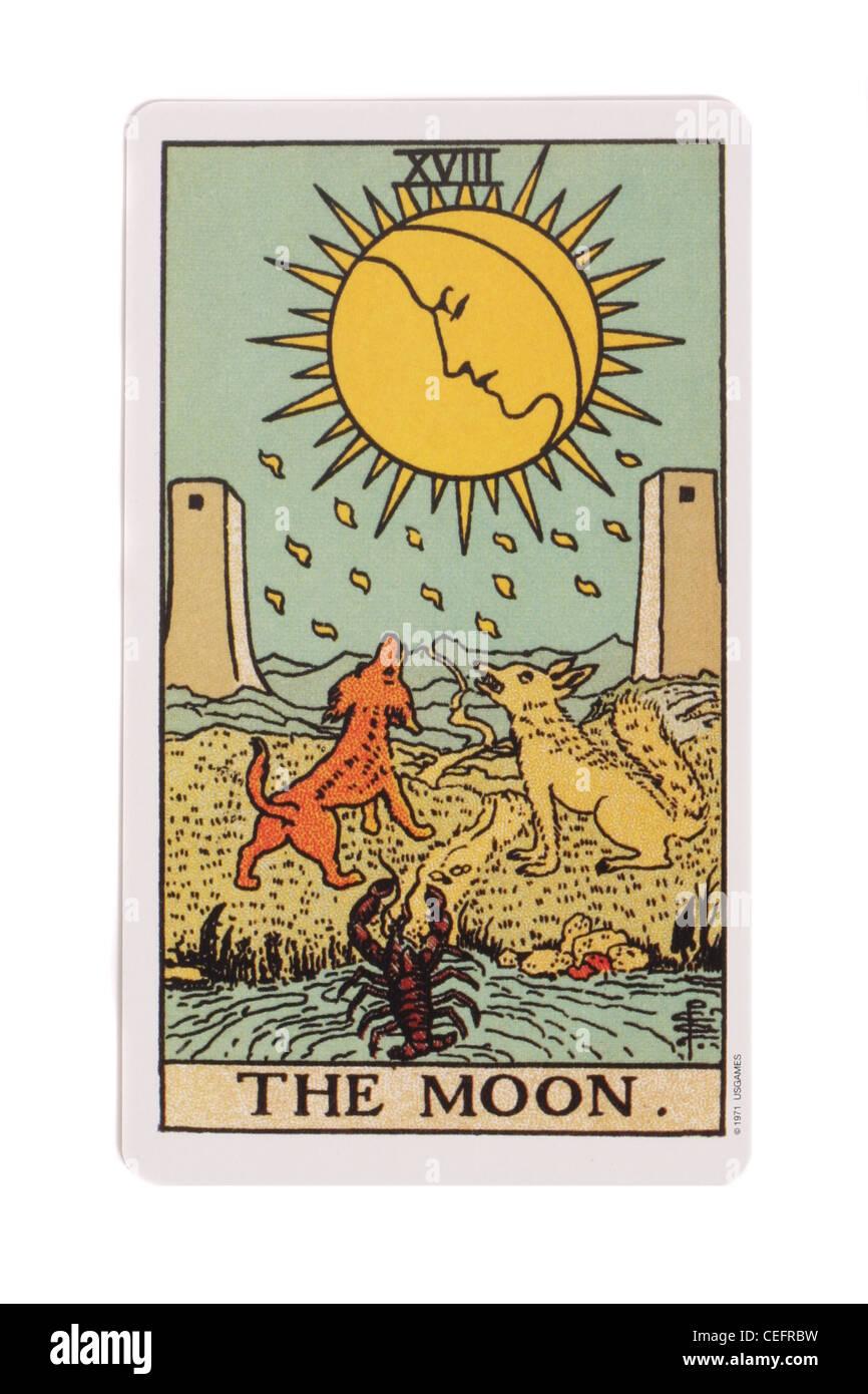 Moon Tarot Card Stock Photos & Moon Tarot Card Stock