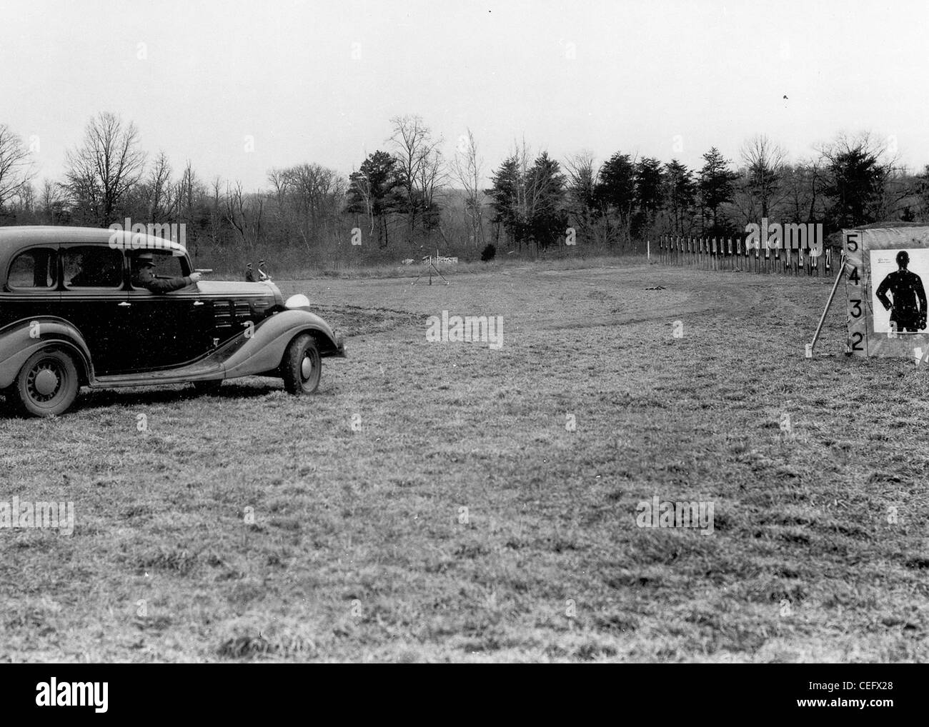 Special agent target practice, 1930s - Stock Image