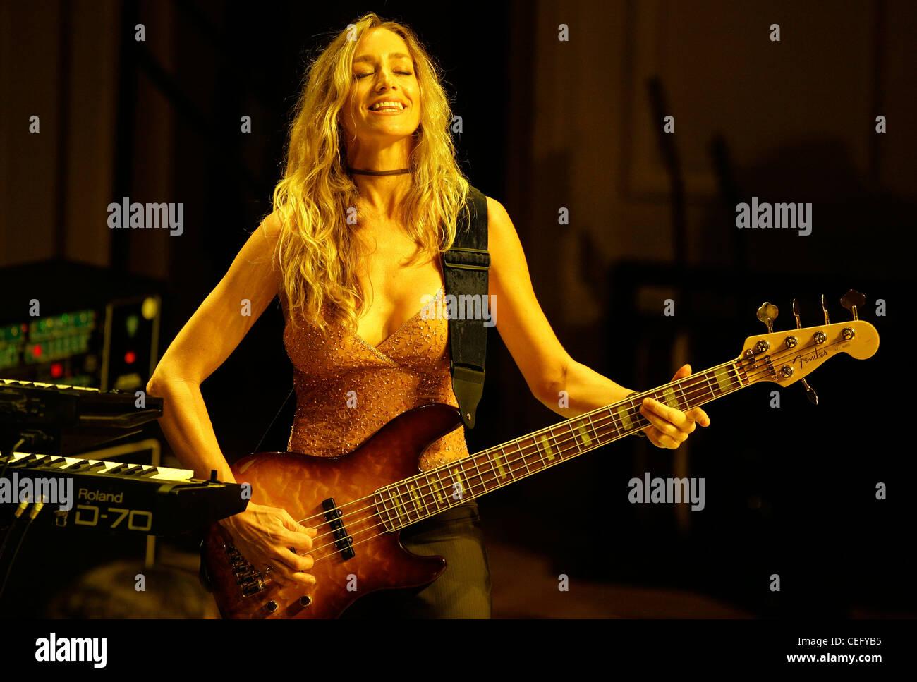 Kimberley Dahme performs with Boston in Boston, Massachusetts. Stock Photo