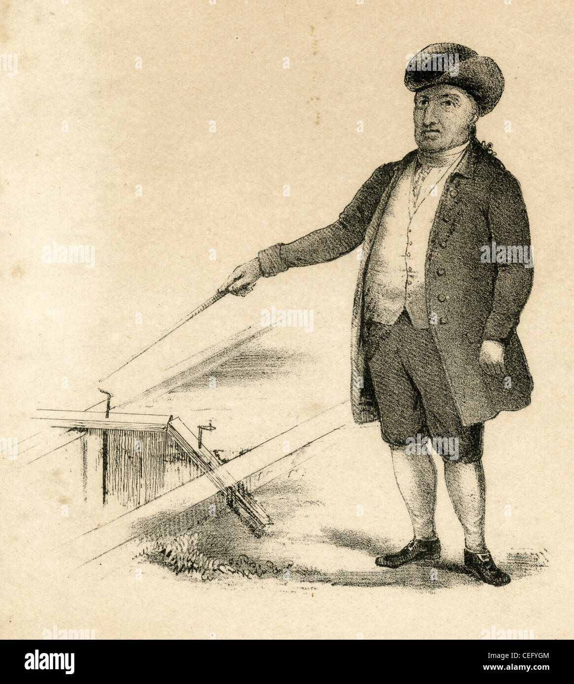 Circa 1810s engraving, Samuel Blodgett. - Stock Image