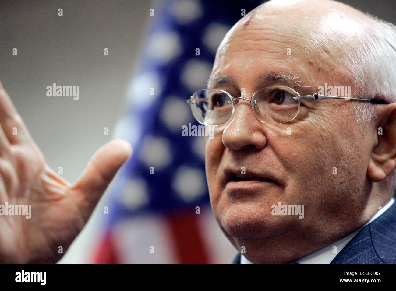 Former Soviet President Mikhail Gorbachev - Stock Image