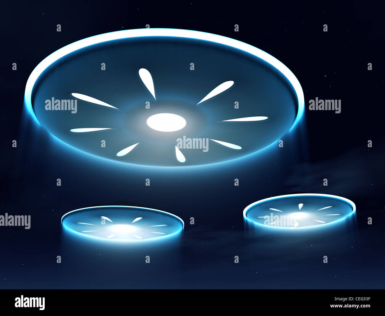 Alien Spacecraft In The Night Sky Stock Photo 43379603 Alamy