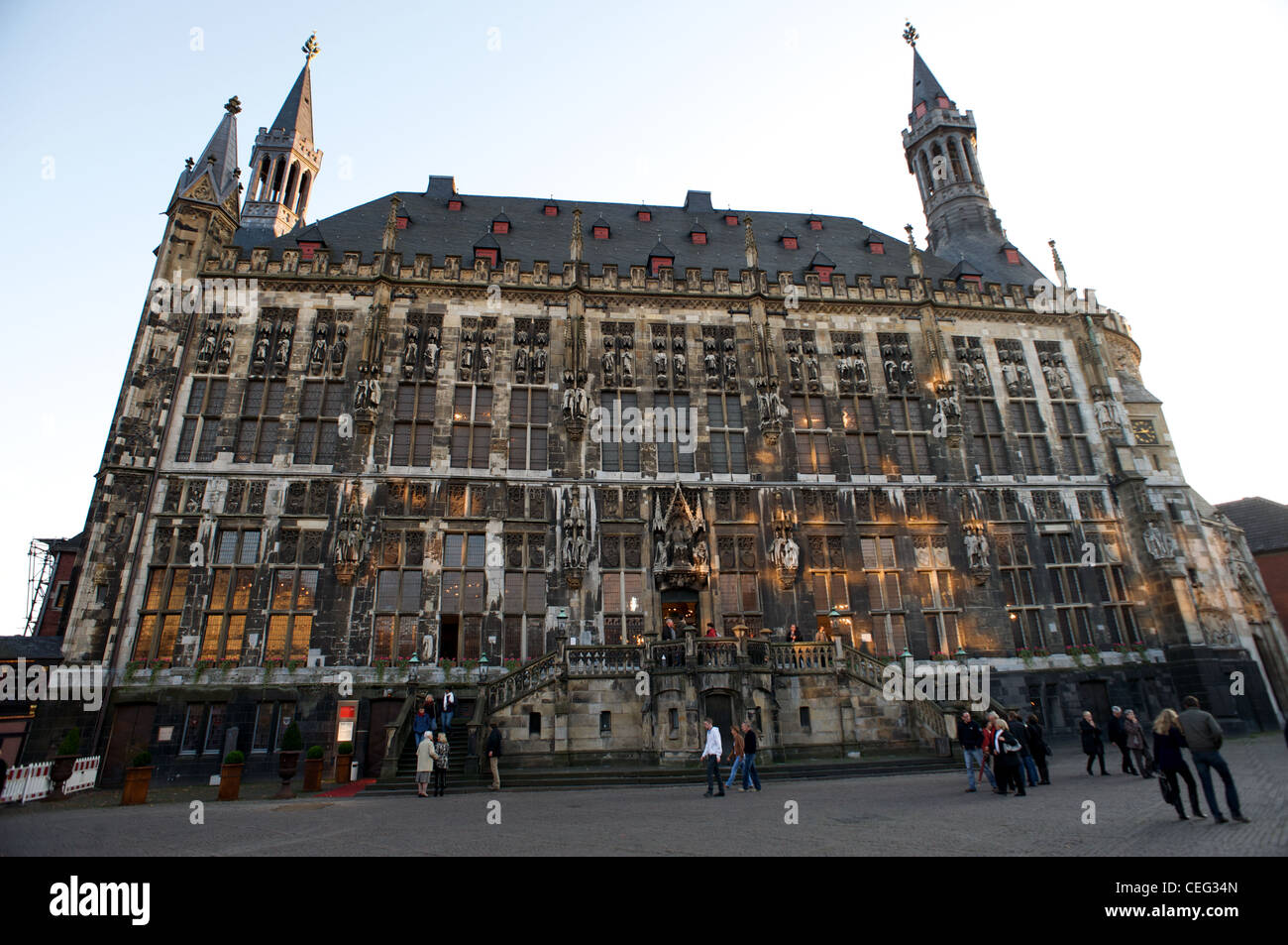 Aachen town hall Germany Stock...