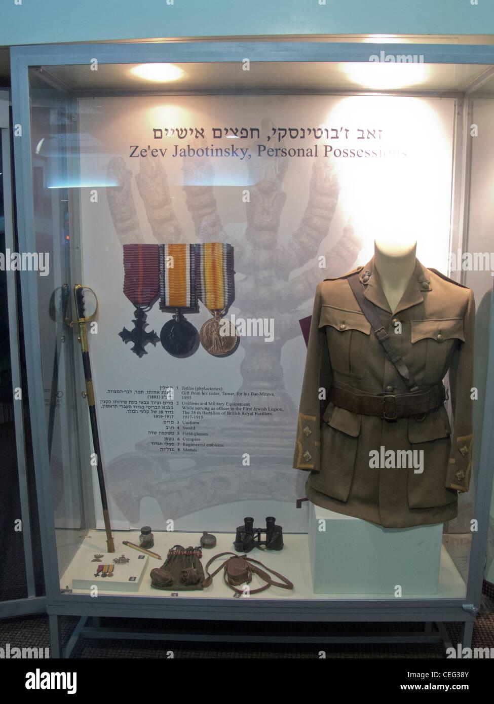 Tel Aviv,Zeev Jabotimsky,zionist museum - Stock Image