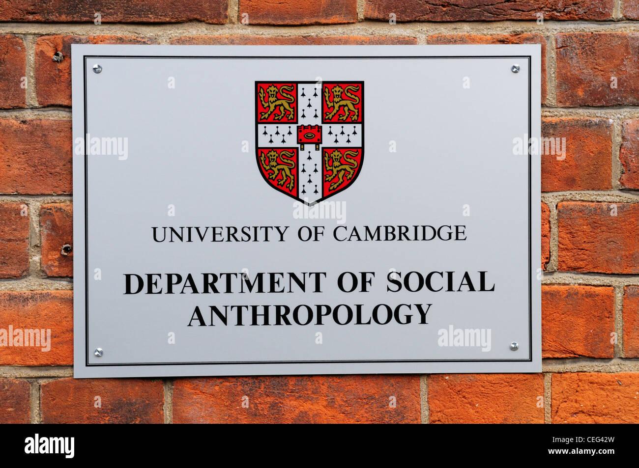 University of Cambridge Department of Social Anthropology, Free School Lane, Cambridge, England, UK - Stock Image
