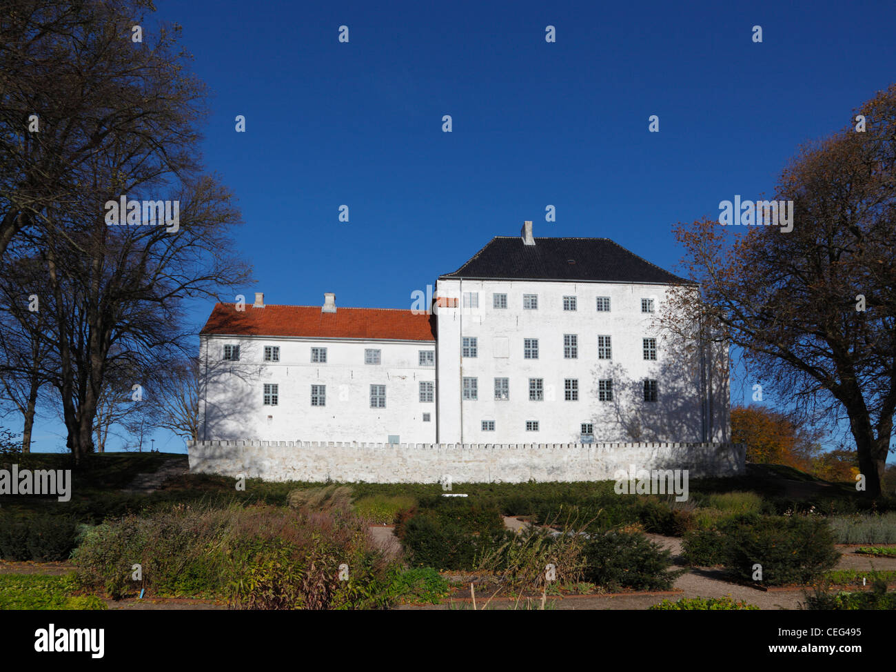 The haunted Dragsholm Castle in the north-western part of Zealand, Denmark. - Stock Image
