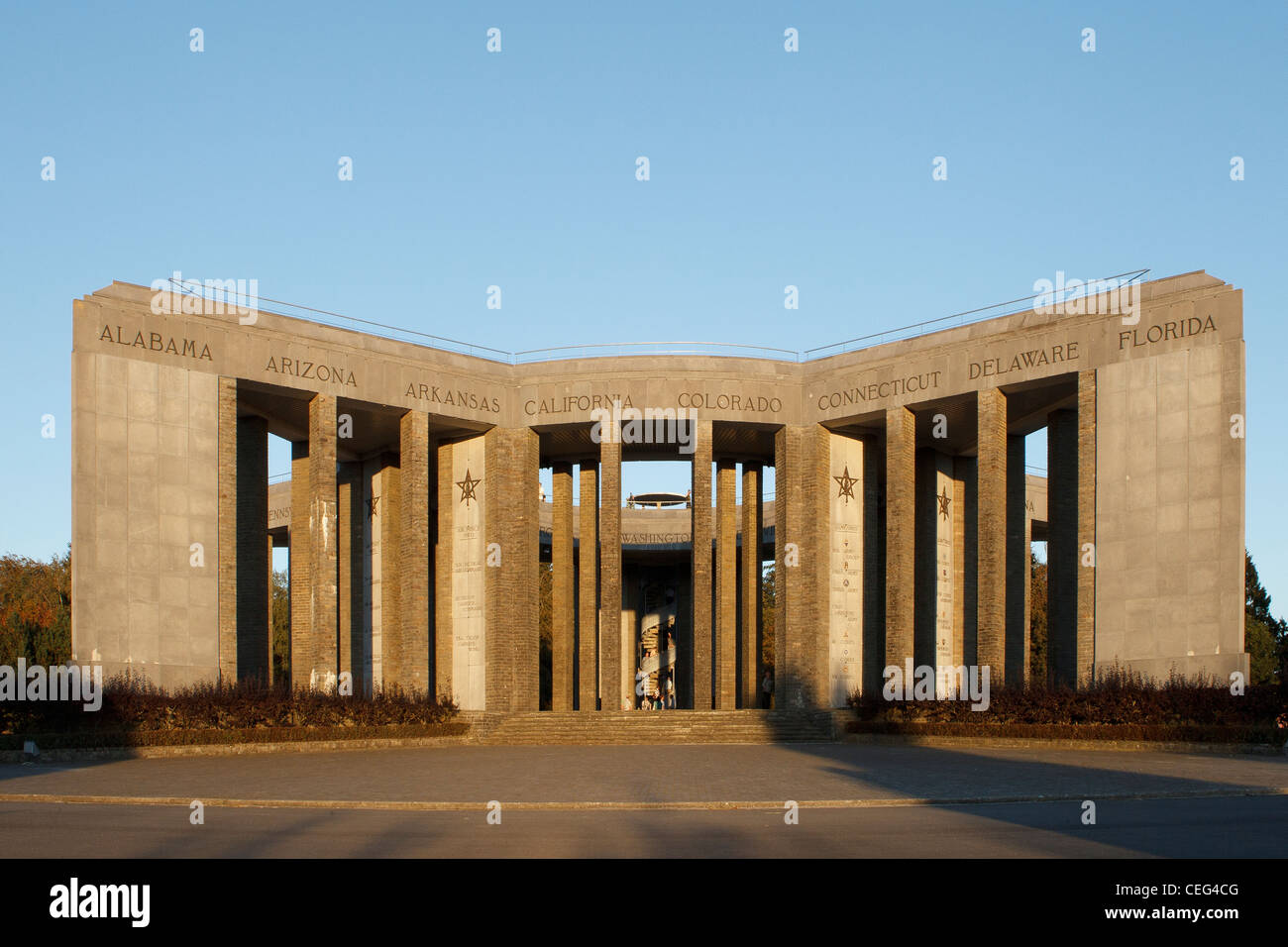 'Mardasson' American monument in Bastogne - Stock Image