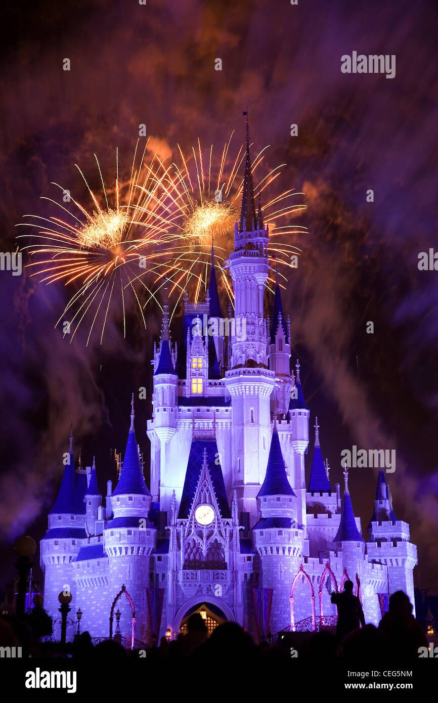 Disney Castle Fireworks Stock Photos Disney Castle Fireworks Stock