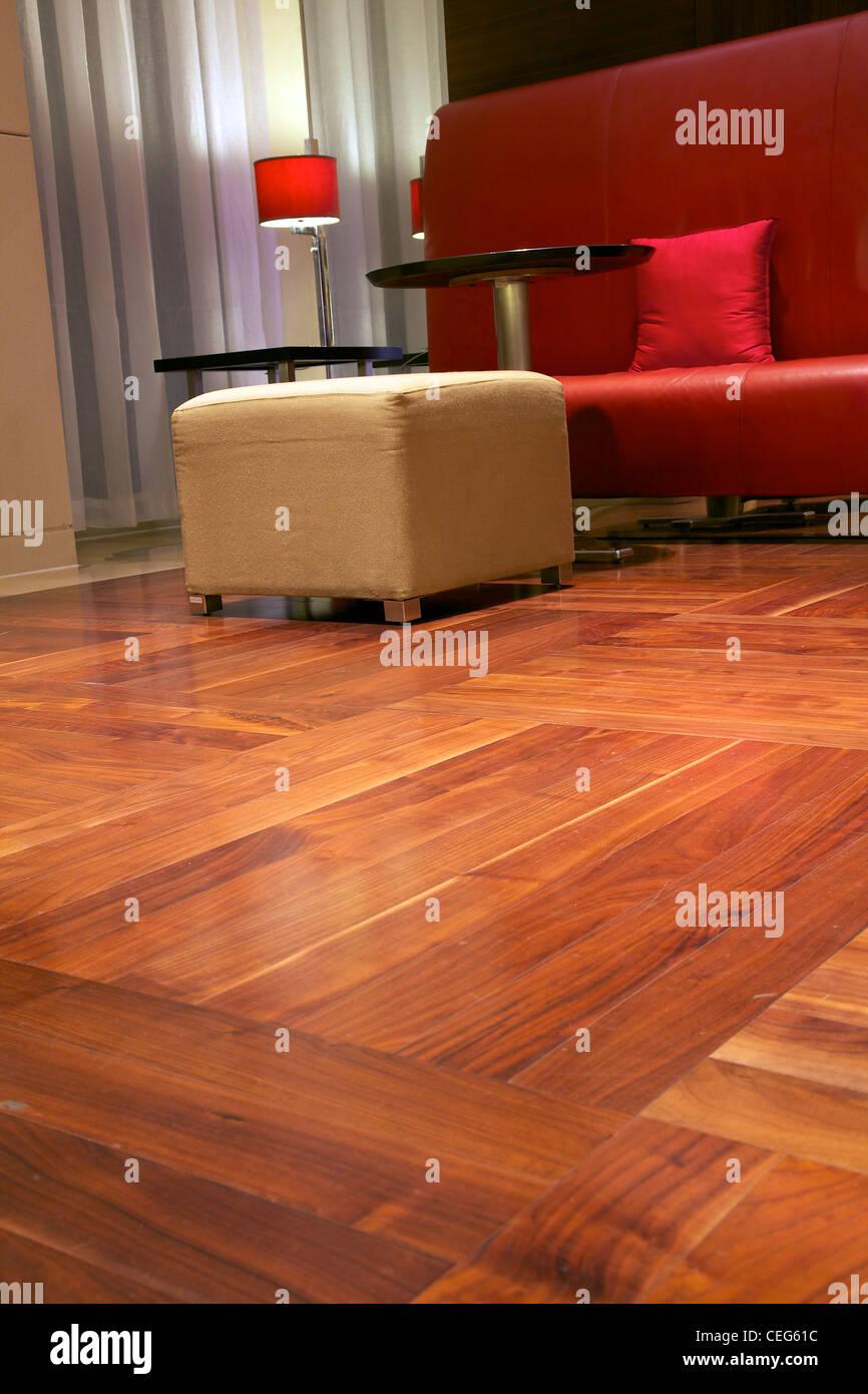parquet floor - Stock Image