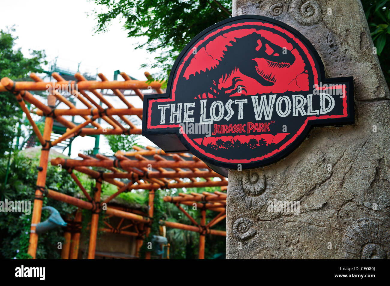 The Lost World Sign Jurassic Park Universal Studios Singapore