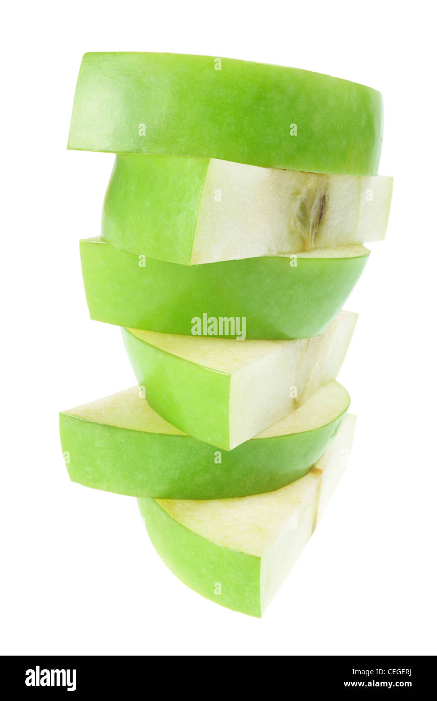 Stack of Apple Slices - Stock Image