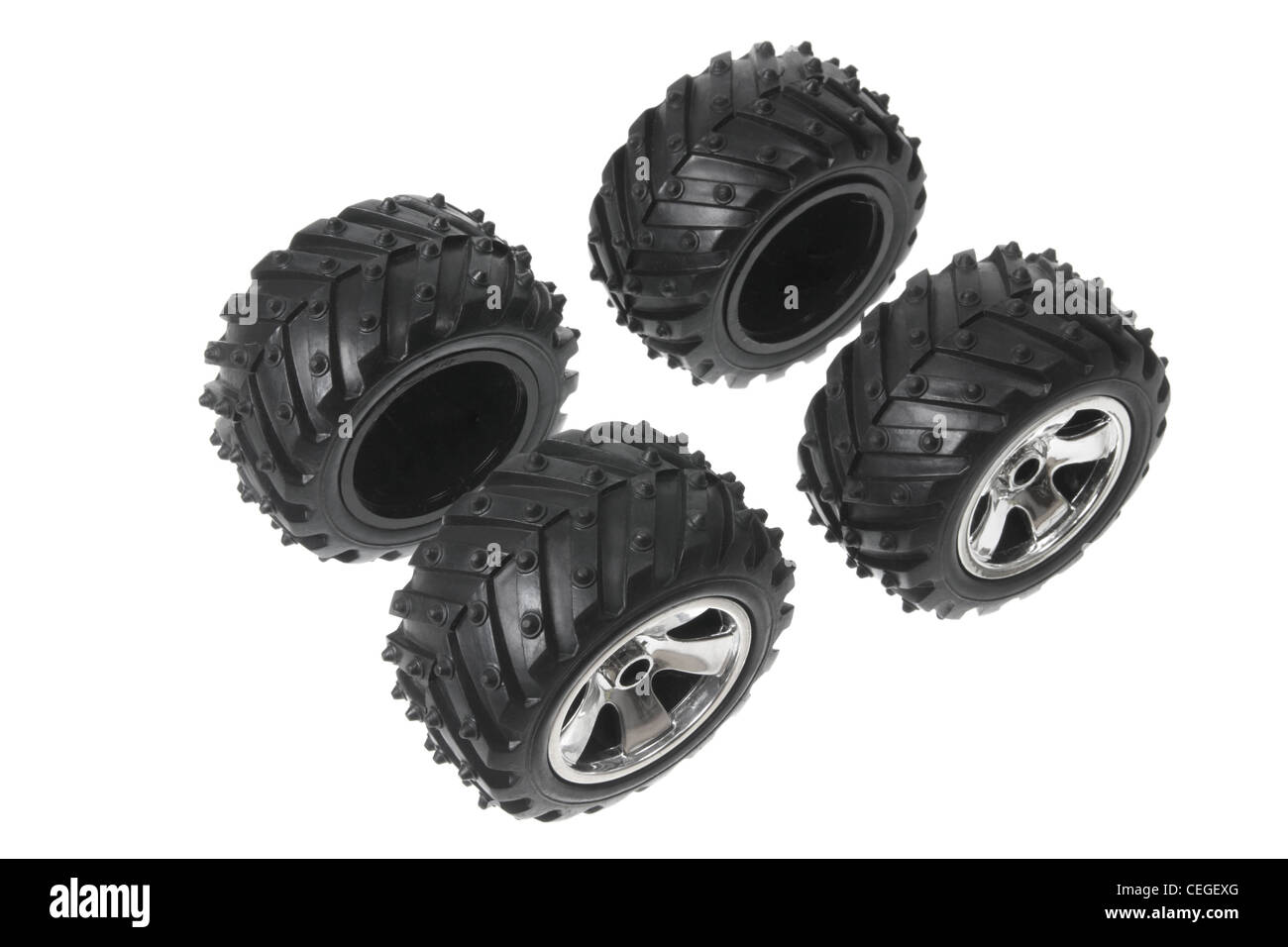 Miniature Tyres - Stock Image