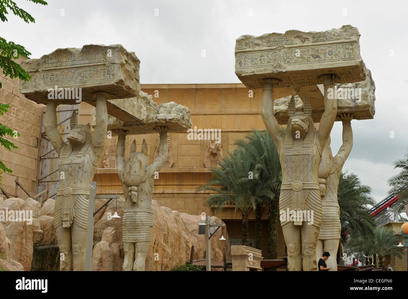 Giant Anubis Statues, Ancient Egypt, Universal Studios
