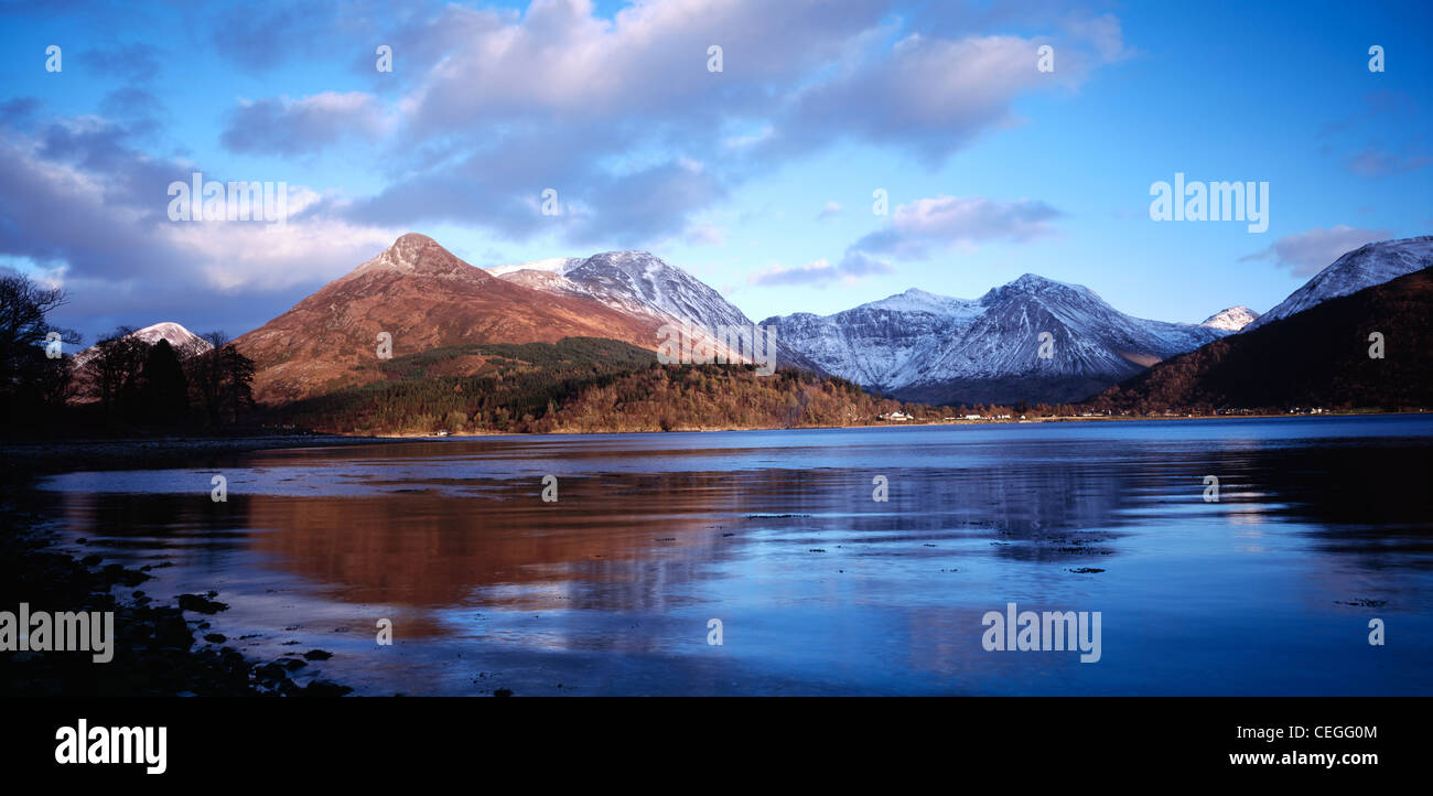 The Pap of Glencoe reflected in Loch Leven, Lochaber, Highland, Scotland, UK. - Stock Image