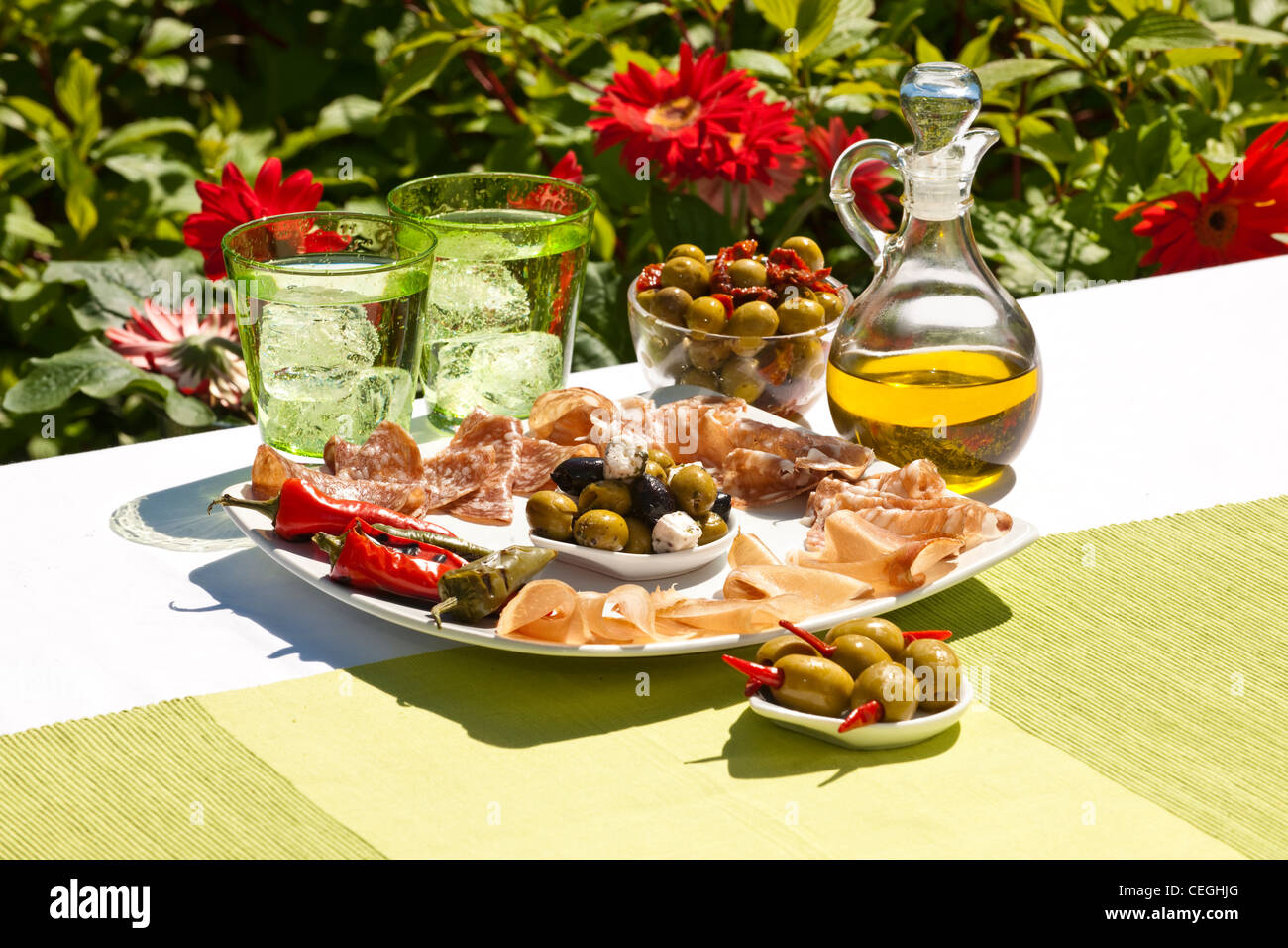 Anti Pasta Selection - Stock Image