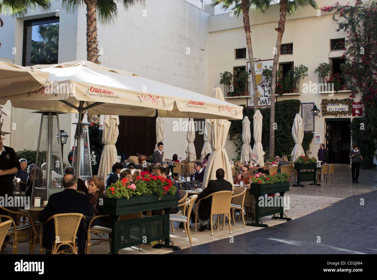 Bodega Bar El Pimpi Malaga Costa Del Sol Andalucia Spain Stock