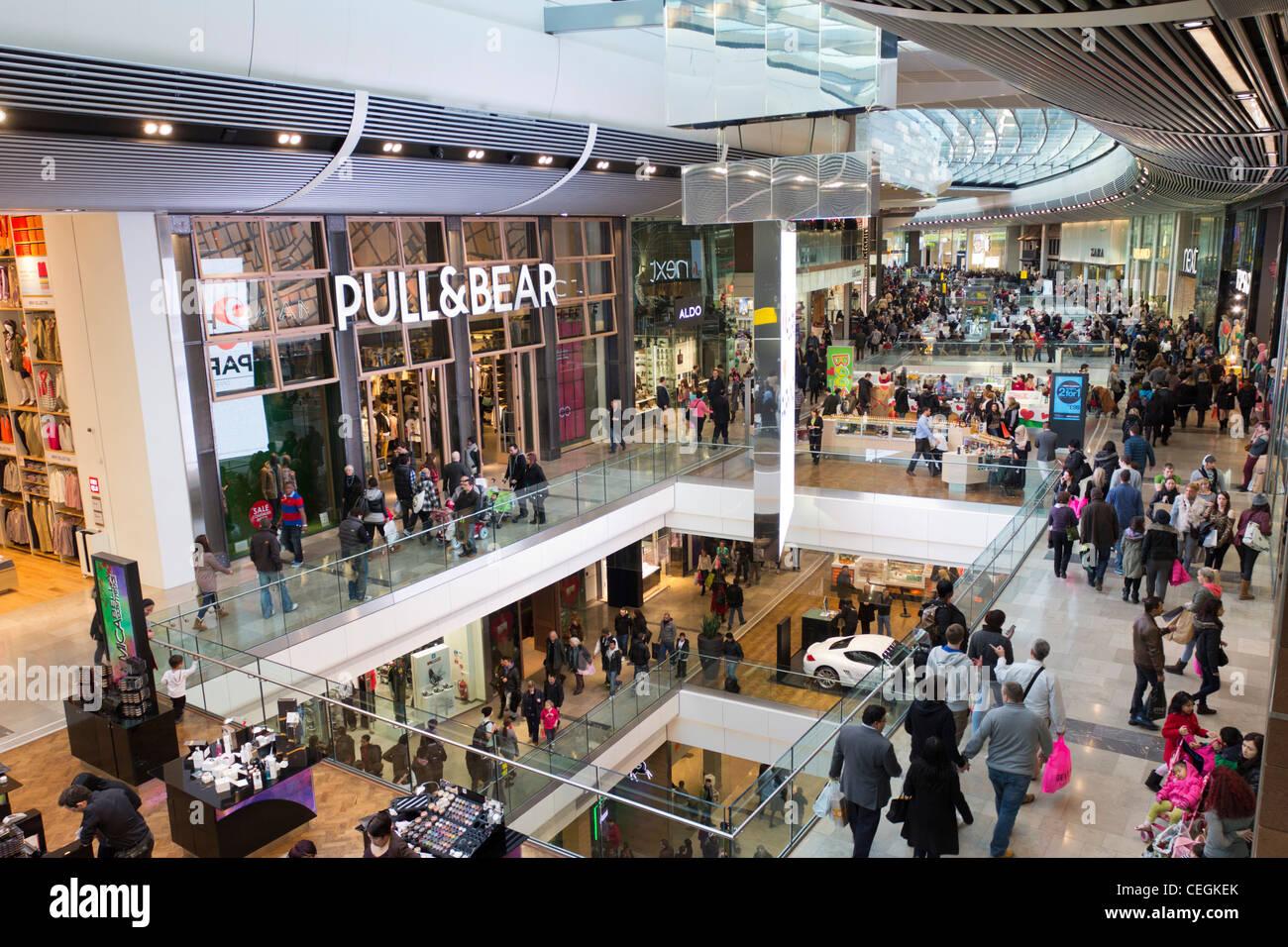 Westfield Stratford City Shopping Centre - Stratford - London - Stock Image