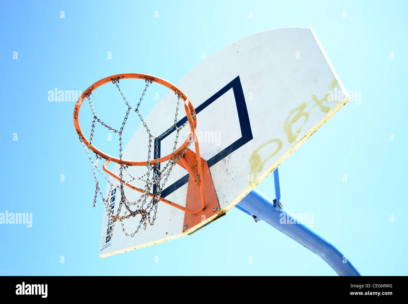 Outdoor Basketball Hoop With Backboard Stock Photo 43393548 Alamy Diagram