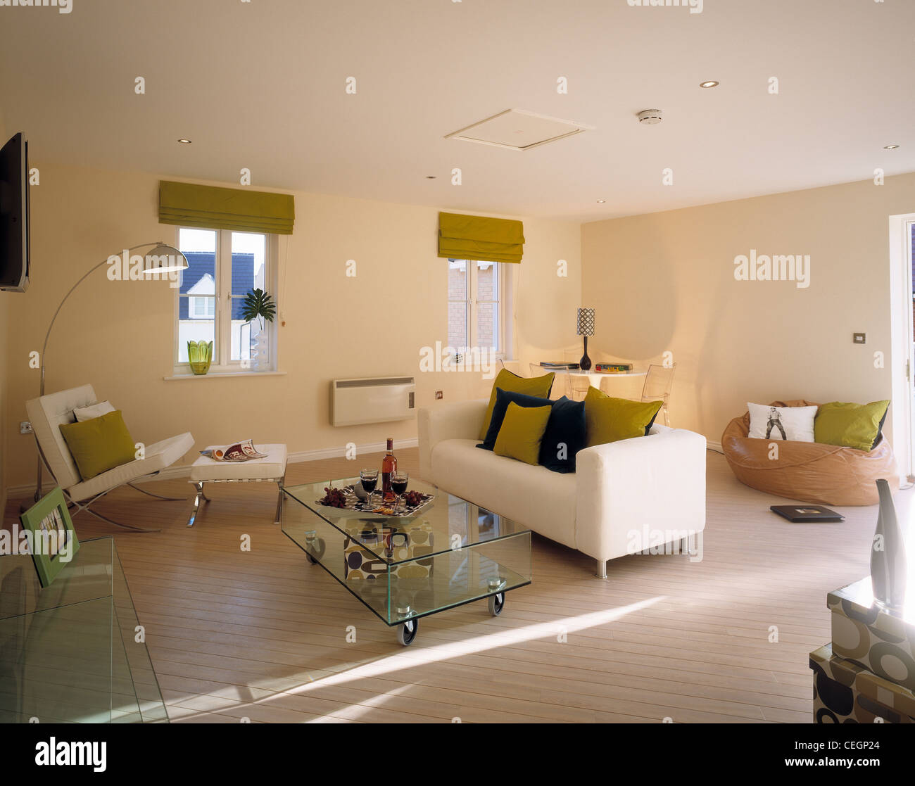 Interior view of lounge. - Stock Image