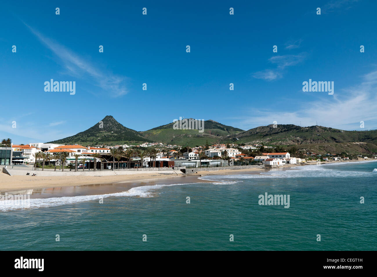 Porto Santo beach, Portugal - Stock Image