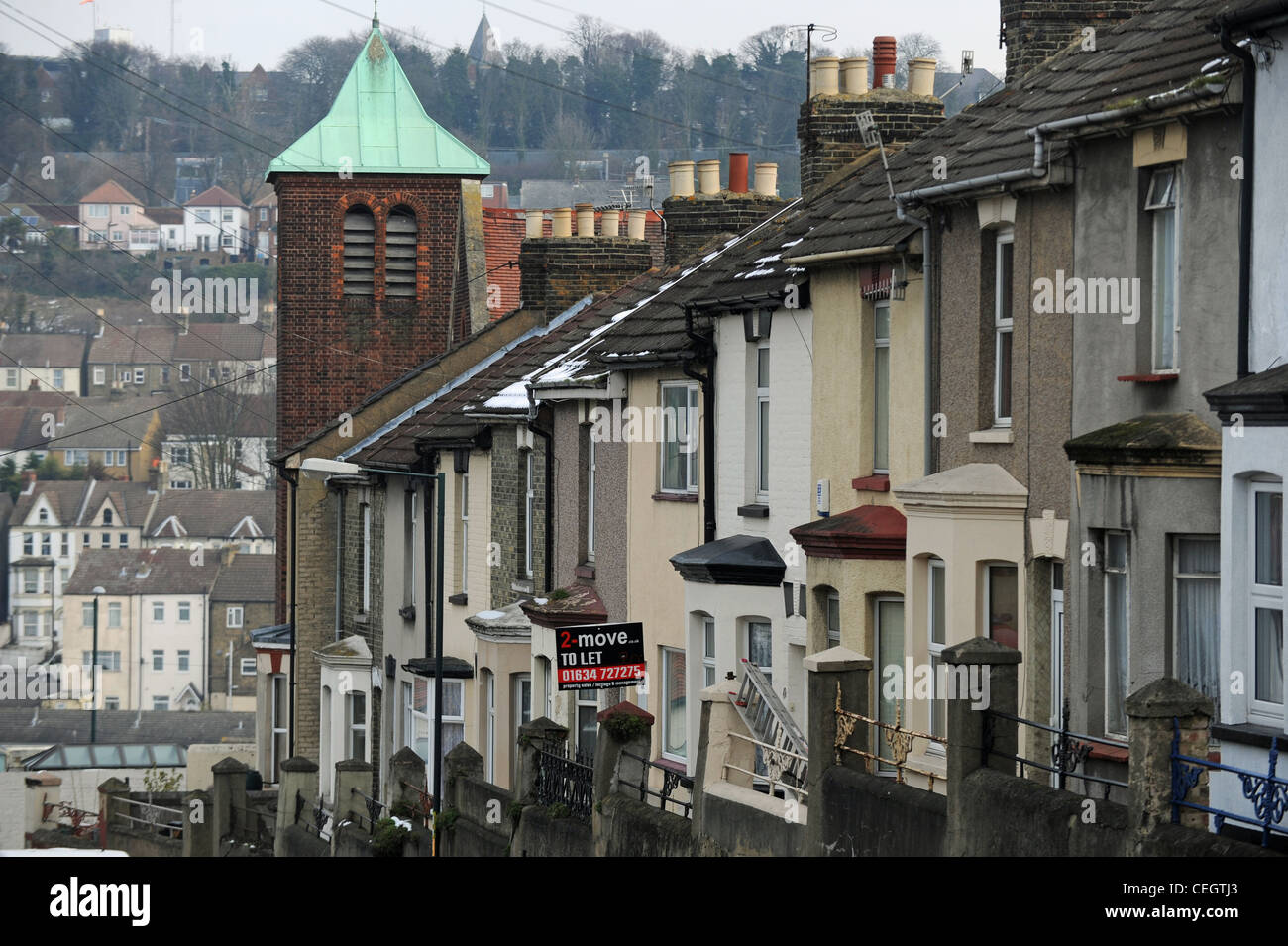 Peachy Terraced Housing With Rental Board Up In Chatham Kent Uk Beutiful Home Inspiration Xortanetmahrainfo