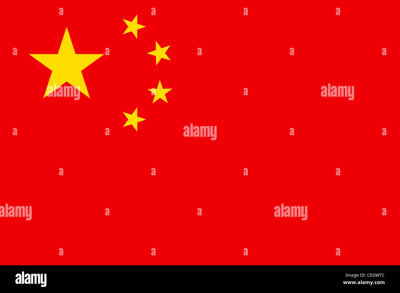National flag of the People's Republic of China. - Stock Image