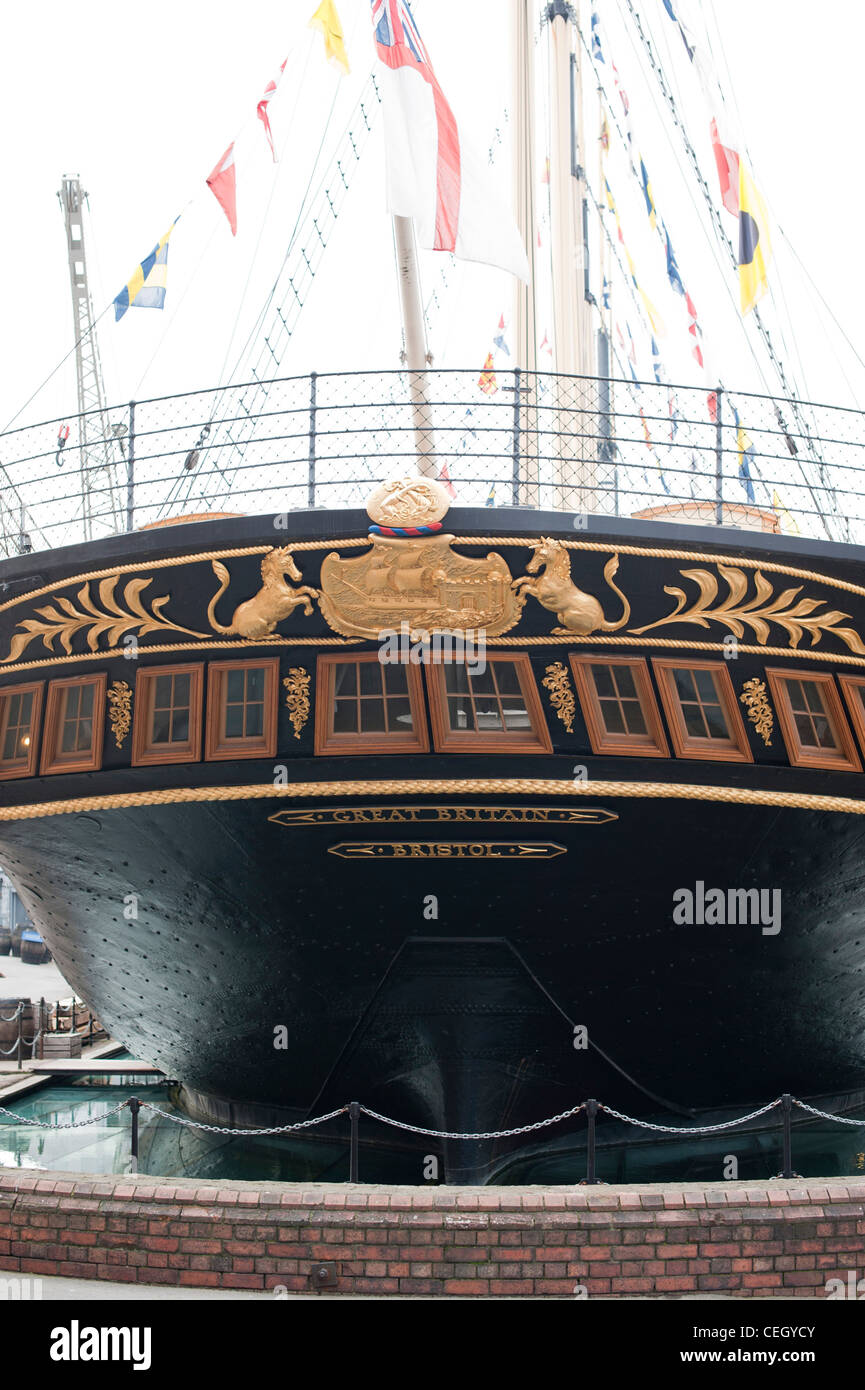 SS Great Britain was an advanced passenger steamship designed by Isambard Kingdom Brunel - Stock Image