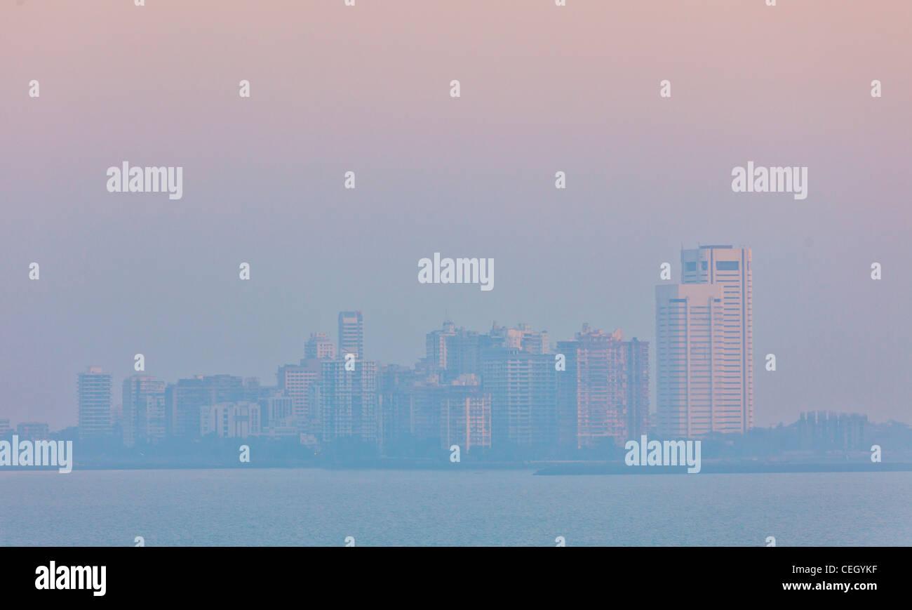 Bombay Mumbai Skyline of Nariman Point - Stock Image