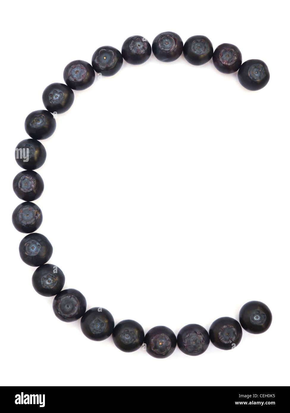 Blueberries Vitamins - Stock Image