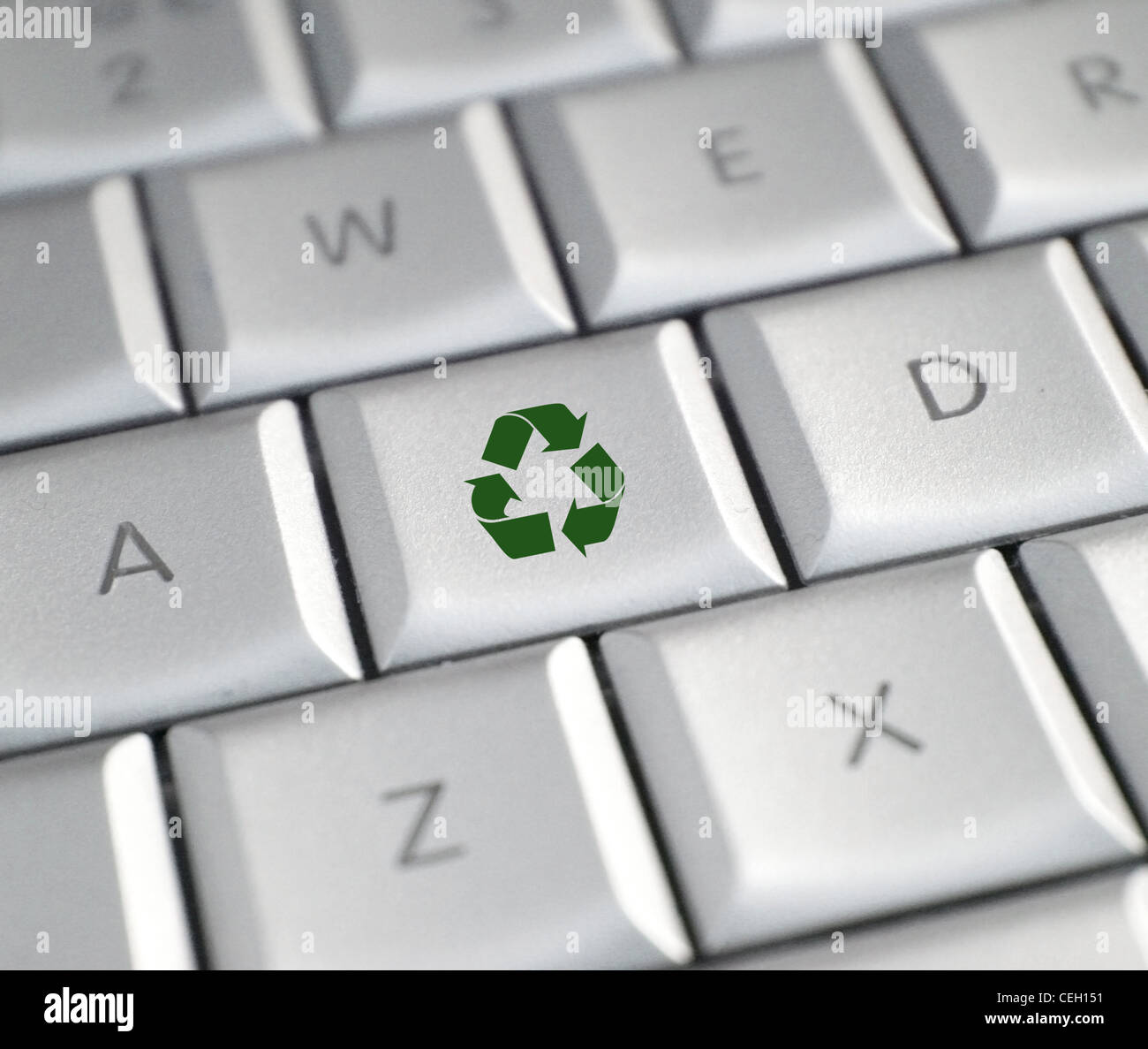 Recycle key - Stock Image
