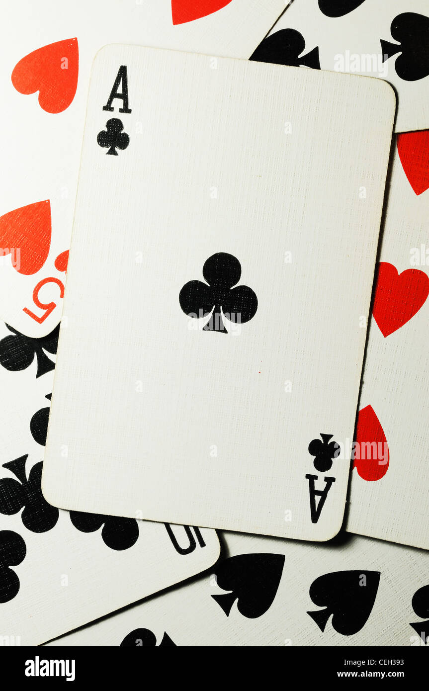 The Ace of Clubs - Stock Image