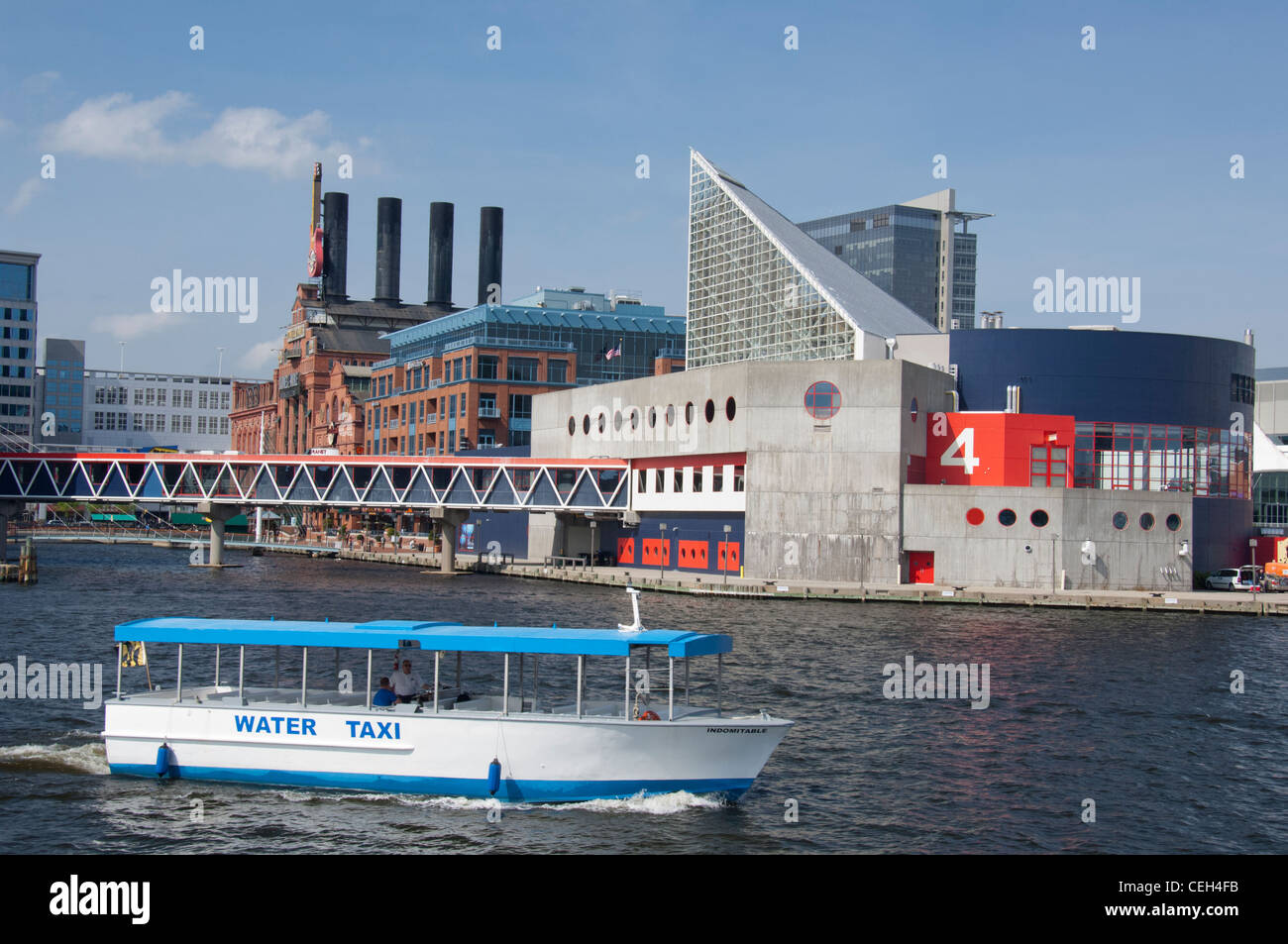 Maryland, Baltimore. National Historic Seaport of Baltimore. National Aquarium of Baltimore. - Stock Image