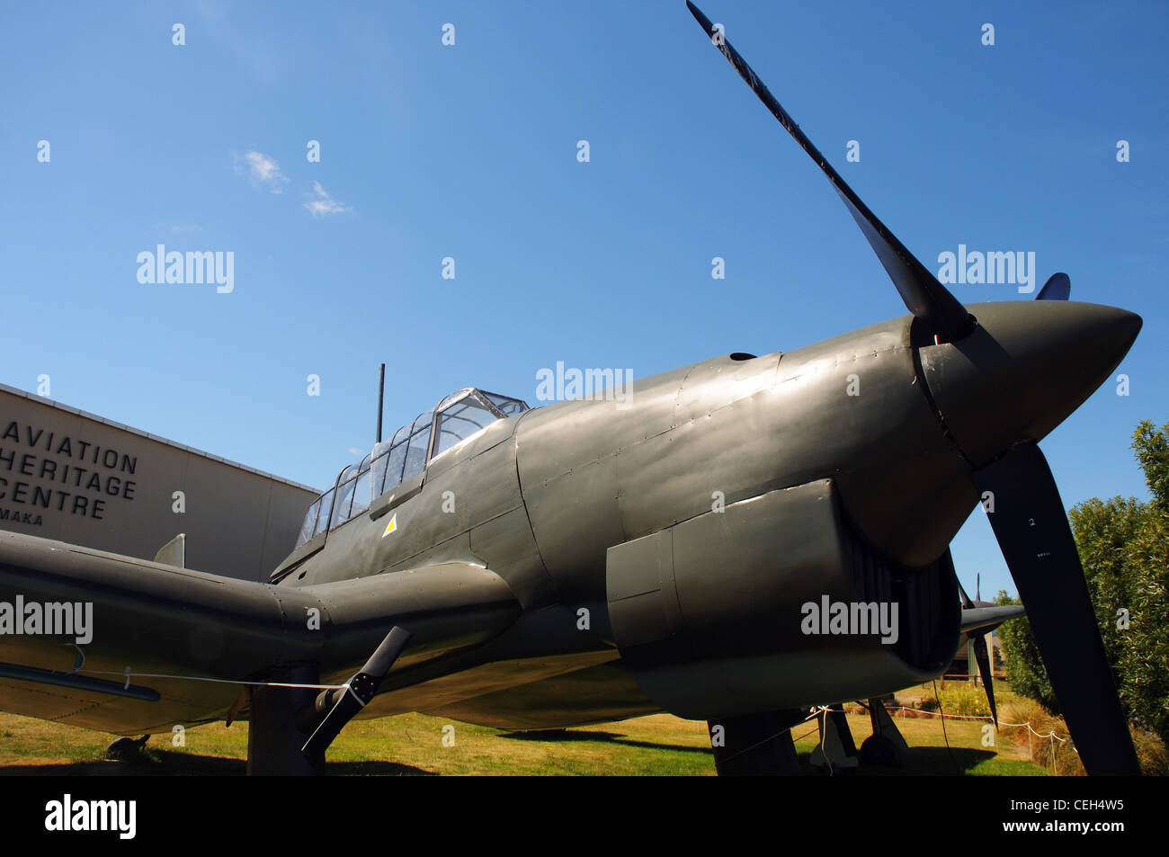 A replica Junkers Ju87 Stuka, a German WW2 dive bomber - Stock Image