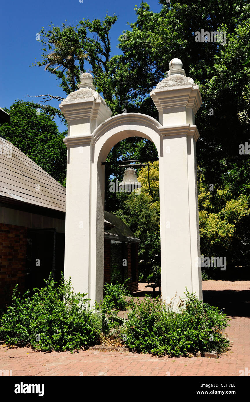 Slave bell in Company's Garden, Cape Town, Western Cape, South Africa - Stock Image