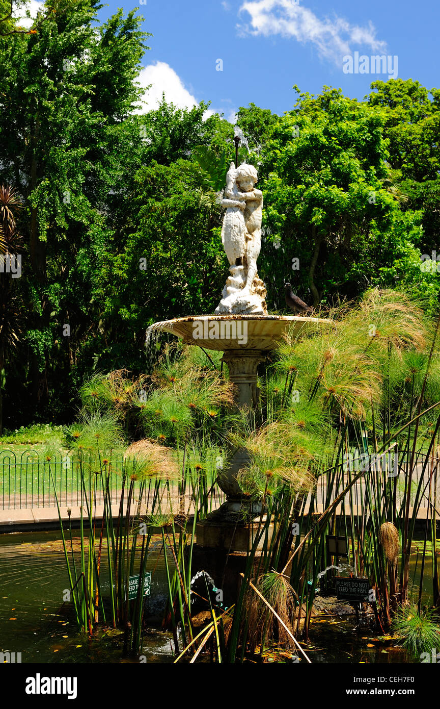 Fountain in Company's Garden, Cape Town, Western Cape, South Africa - Stock Image