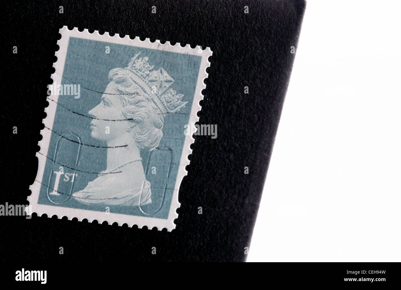 British first class stamp, February 2012 - Stock Image