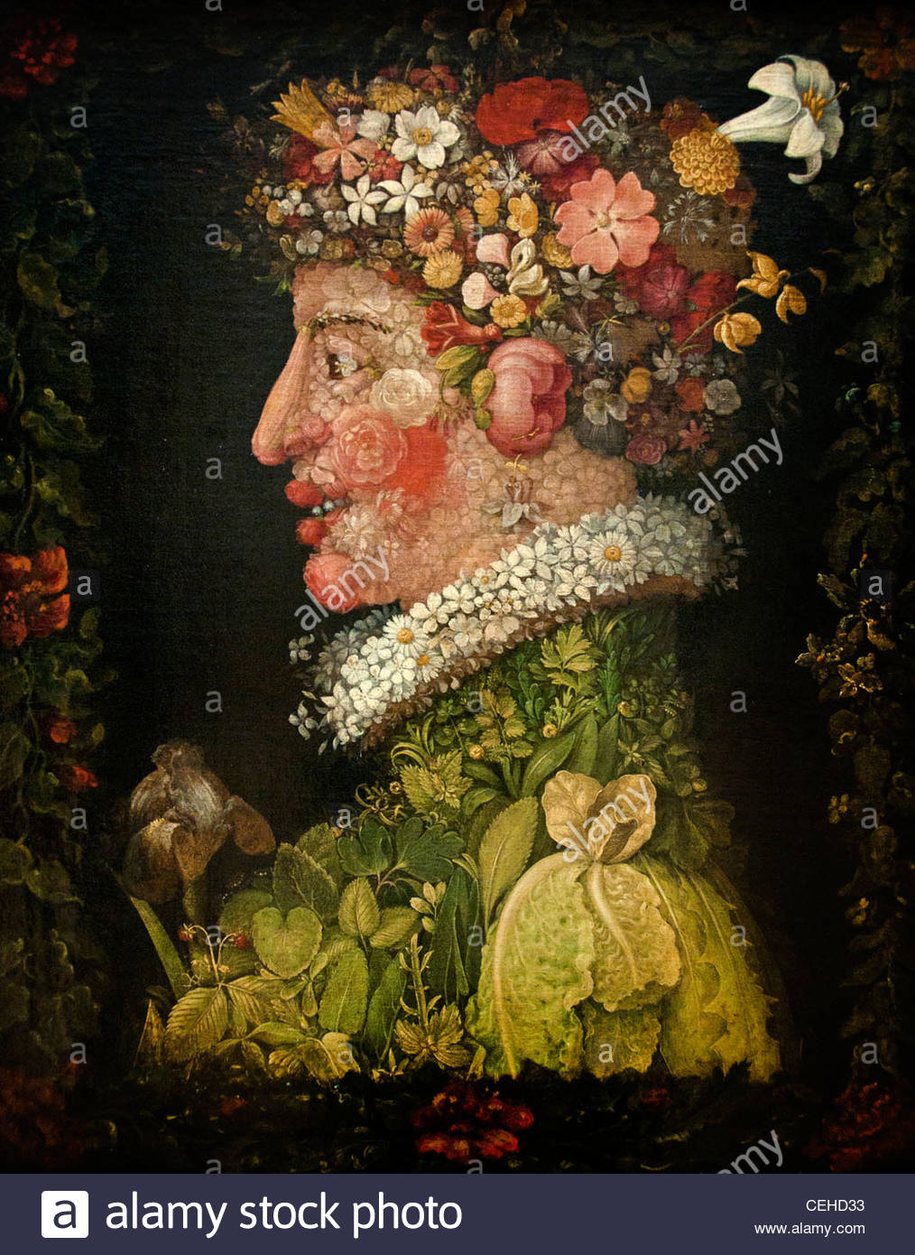 Spring -  The four seasons 1573 by ARCIMBOLDO Giuseppe  1527-93  Italian Italy - Stock Image