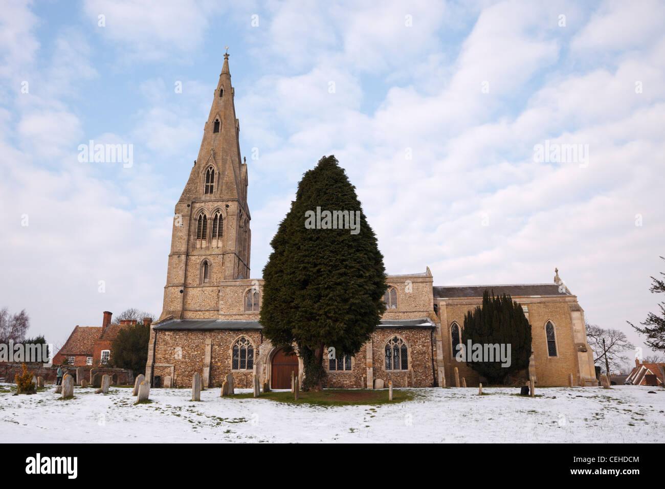 St Mary Magdalene Church, Warboys, Cambridgeshire, England - Stock Image