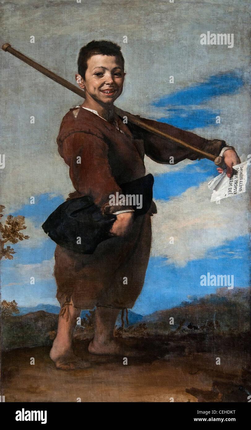 The Beggar The Clubfoot 1642 painting by Jusepe de Ribera Spain Spanish - Stock Image