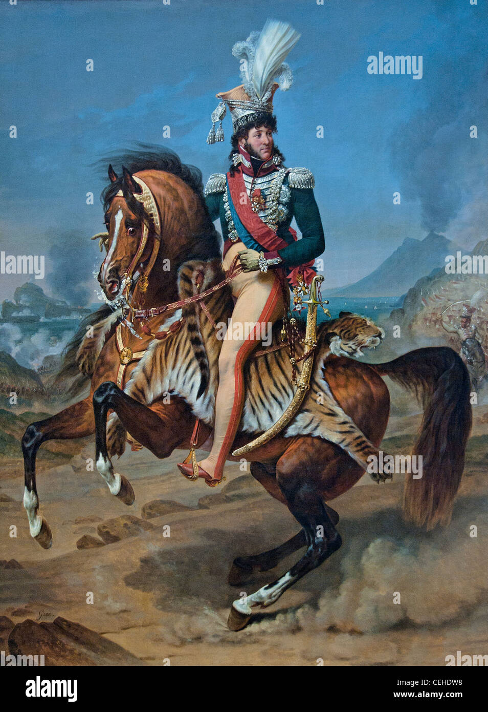 Equestrian Portrait of Joachim Murat King of Naples 1767  Baron Antoine Jean Gros - Stock Image
