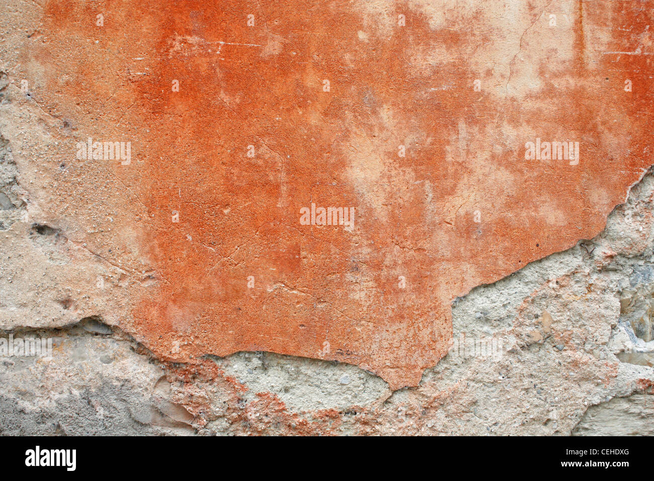 Grungy red wall - Stock Image